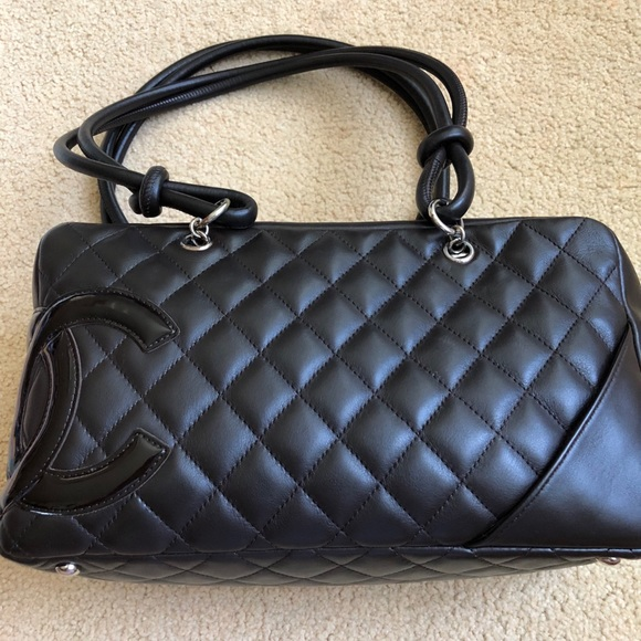 a4c56bdccd CHANEL Bags | Cambon Bowler Bag In Dark Brown | Poshmark